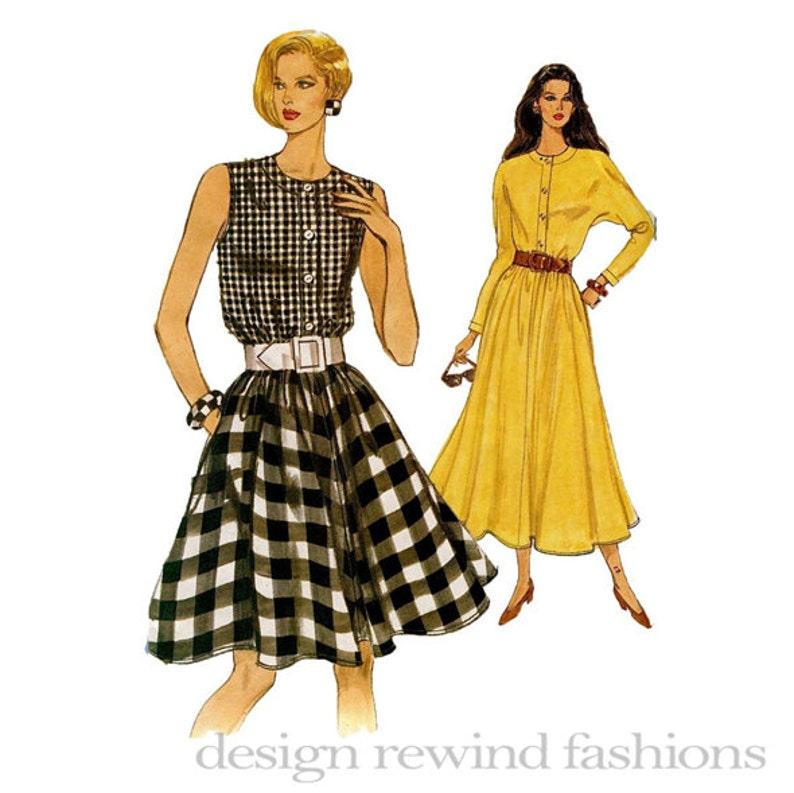 bc95bf4ff7 Vogue 8288 sukienka wzór Fit   flary Shirtdress przedni