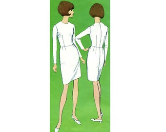 Vintage 1960s Vogue 1000 Basic Sheath DRESS SLOPER Fitting Shell PATTERN Guide to Perfect Fit  Womens Sewing Patterns Bust 34 Size 12