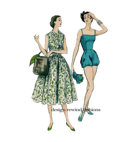 1950er Jahre Sommerkleid 2-teilig & PLAYSUIT Rockabilly | Etsy