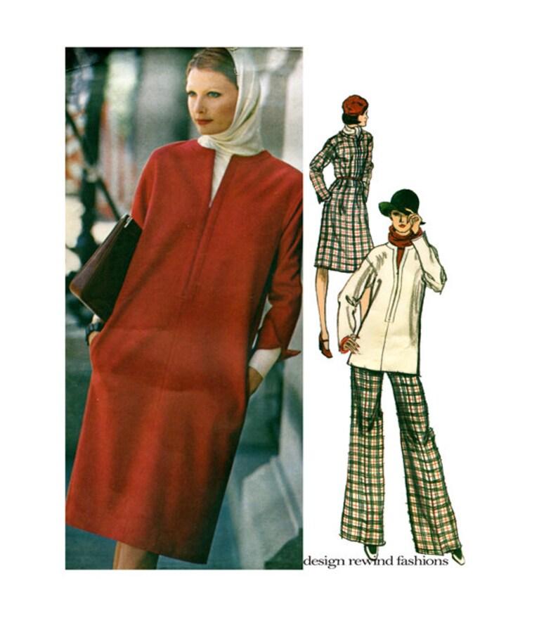 37ceb98c49 Vogue 1158 DRESS TUNIC PANTS   BLoUSE Pattern Pullover Tunic