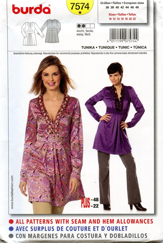 14-16 /& 20-22 Womens Tunic Size 10-12 New Ladies Tunic Top /& Necklace