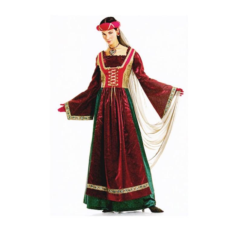 RENAISSANCE DRESS PATTERN Laced Medieval Dress Costume Historic Reenactment  Maiden Dress Burda 2509 Size 10-24 UNCuT Womens Sewing Patterns