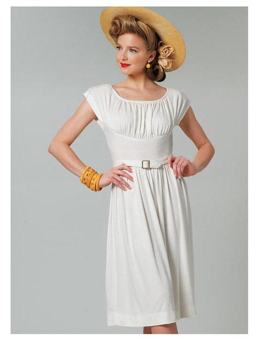 Vogue 8728 Kleid Muster geraffte Büste Kleid & Gürtel kurze | Etsy