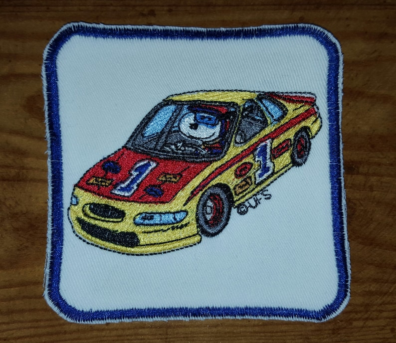 Car Racing and Surfing Peanuts Snoopy Iron On Patches Fishing