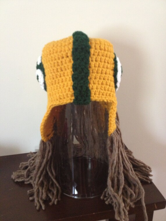 d260866e Green Bay Packers Helmet Beanie with Dreads