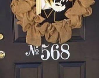 Front Door Number Decal  Vinyl Number Door Decal  Custom House Number Decal  Front Door Decal Door Numbers Address Decal
