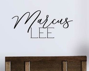 Personalized Wall Decal Boy Name Wall Decal Nursery Wall Decal Personalized Name Decal Vinyl Wall Decal Boys Name Decal Vinyl Lettering