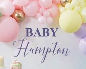 Baby Shower Decal for Balloon Arch, Balloon Arch Decoration, Personalized Baby Decal, Baby Shower Decorations, Baby Shower Decorations