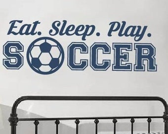 Soccer Decal for Wall, Soccer Decorations, Soccer Decorations for boys girls bedroom, Soccer Wall Art, Soccer Wall Decal Decor, Sports Decal