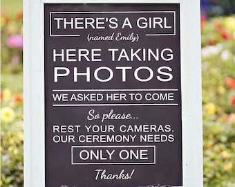 Unplugged Wedding Sign Decal | Chalkboard Wedding Sign Decal | DIY Wedding Vinyl | Rustic Wedding Decor | Welcome Wedding Decal | No phones