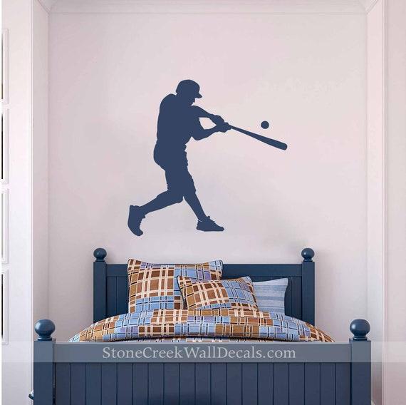 Baseball Player Wall Decal Baseball Wall Art Baseball For Etsy