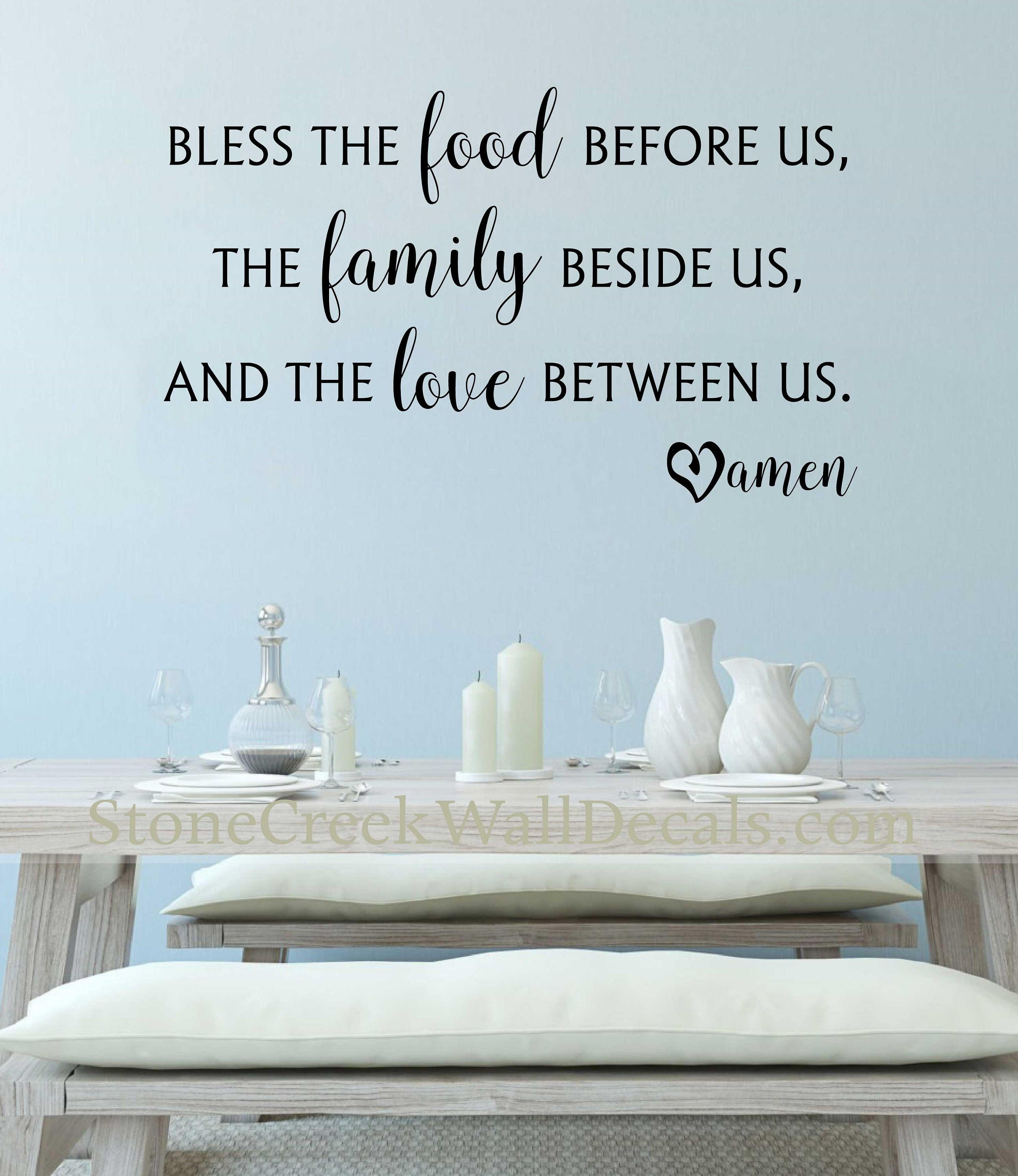 Bless the Food Before Us Wall Decal Kitchen Wall Decal Dining Room ...