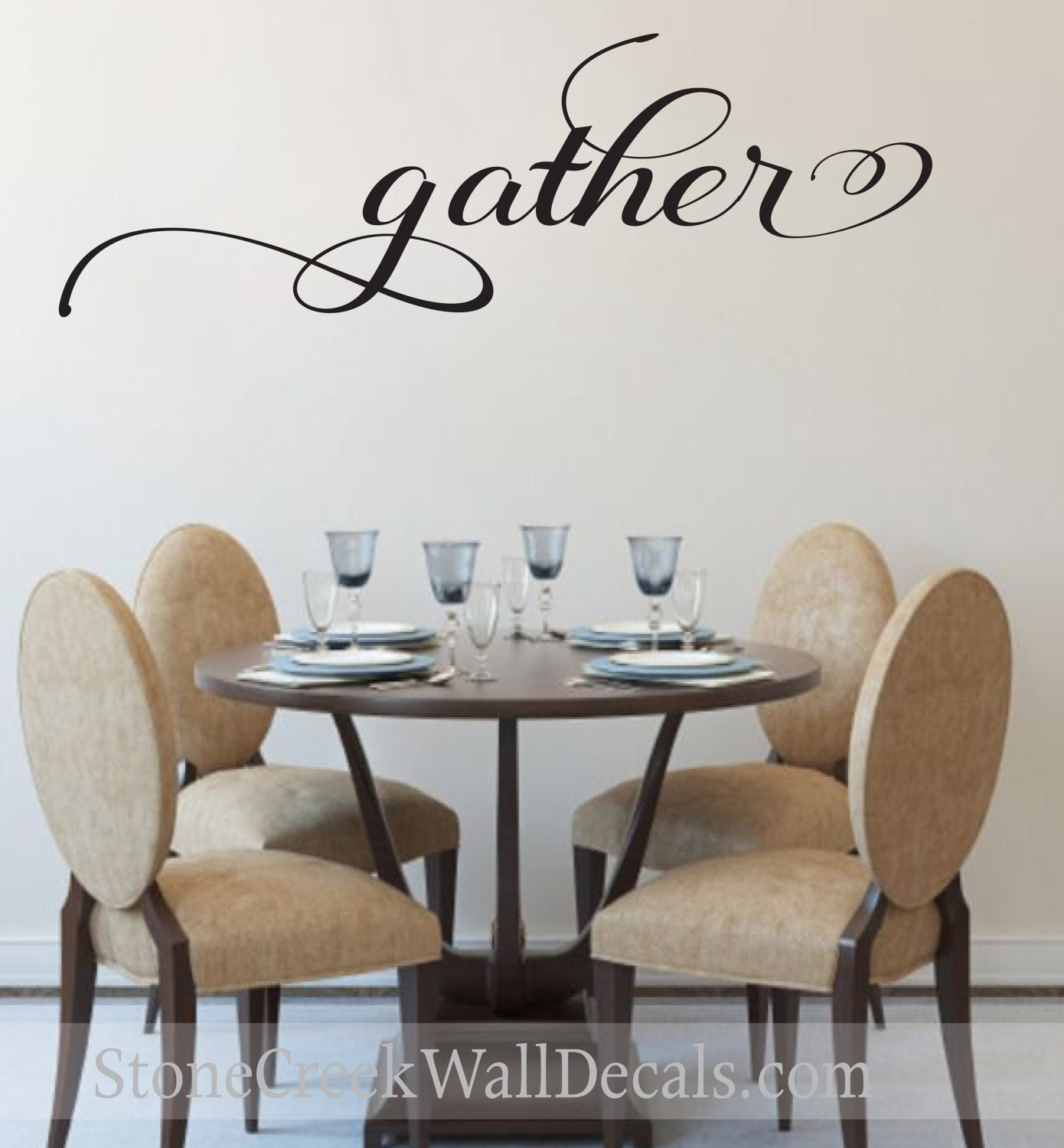 Gather Wall Decal Living Room Dining Room Family Decor Gather Wall ...
