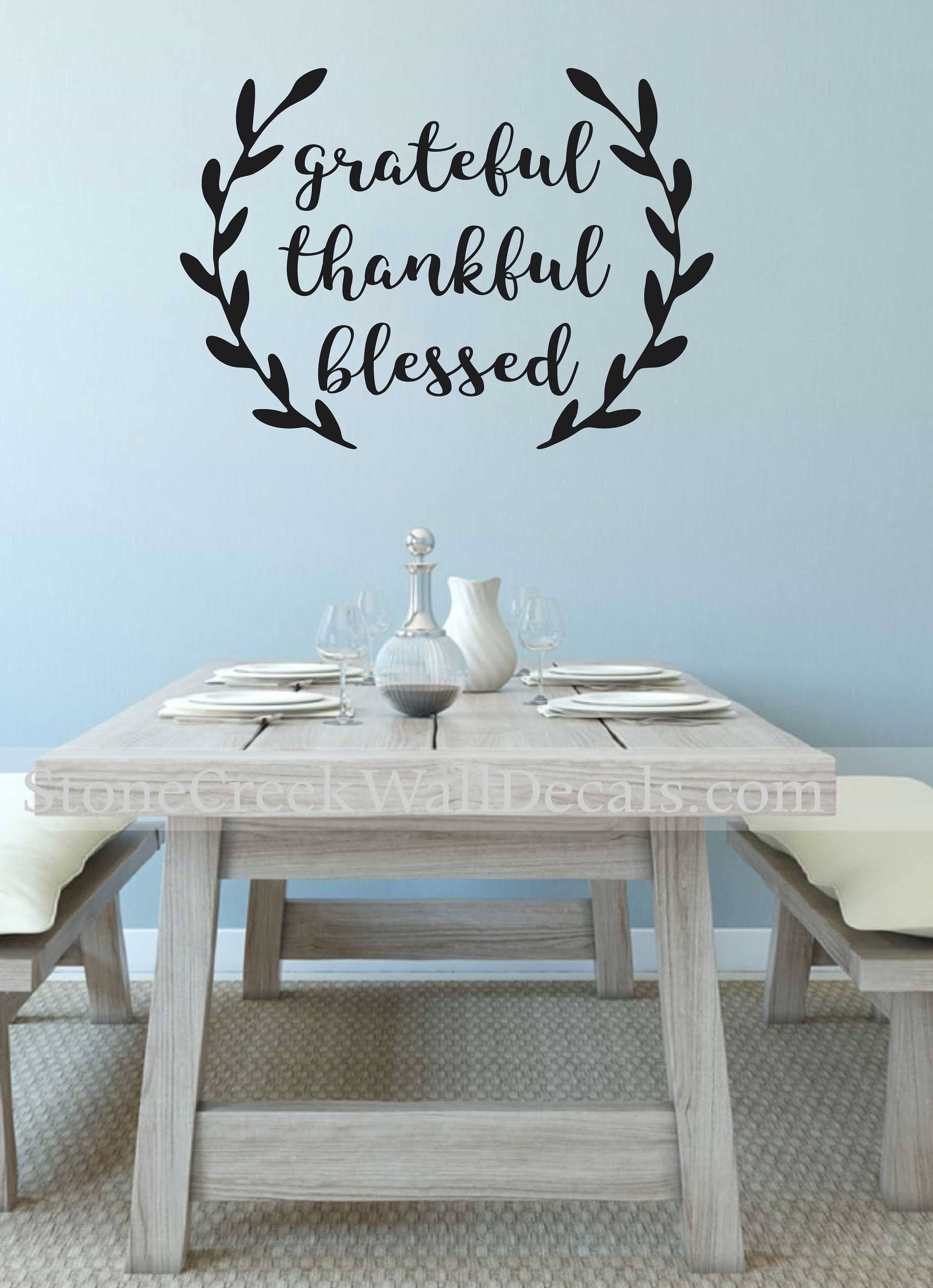 Grateful Thankful, Blessed decal, vinyl lettering, inspirational ...