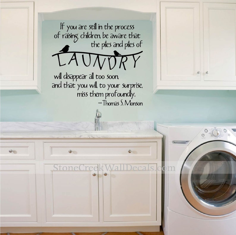 laundry room wall decals laundry room decals laundry room | etsy