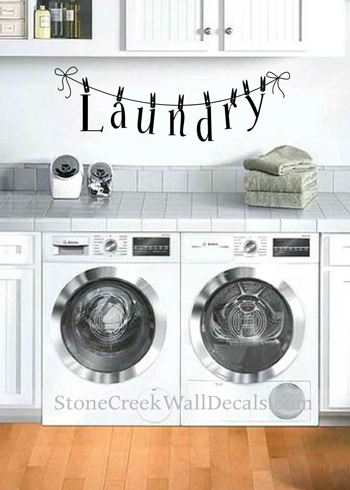 Laundry Clothesline Vinyl Wall Decal Laundry Room Vinyl Wall Decal