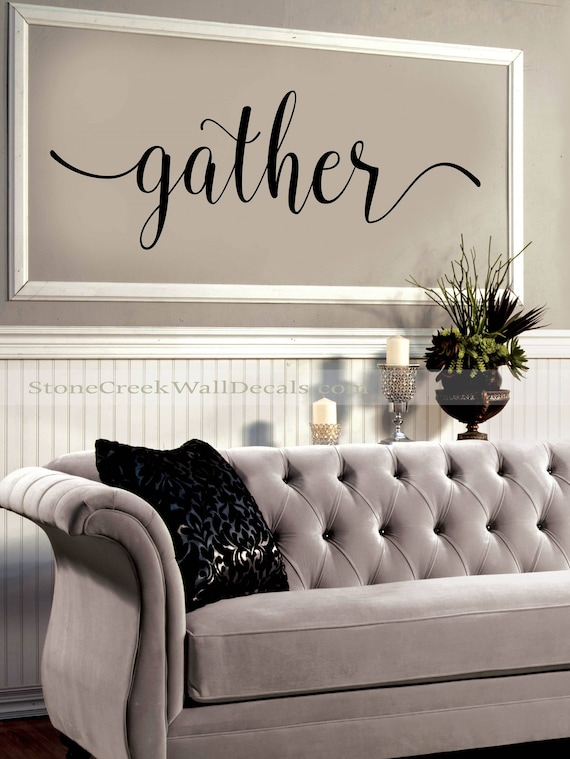 Gather Wall Decal Living Room Dining, Wall Decor Stickers For Dining Room