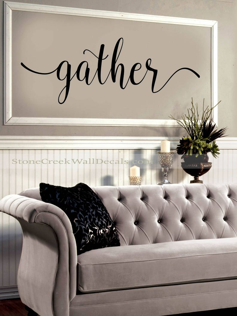 Gather Wall Decal Living Room Dining Room Family Decor | Etsy