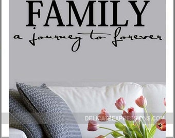 Family A Journey To Forever Family Wall Decal Family Vinyl Family Wall  Decor Family Word Decal