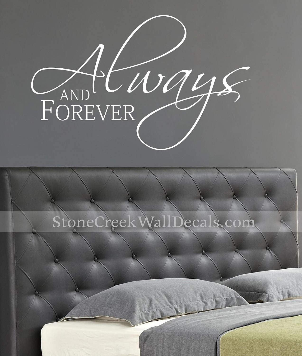 Always and Forever Romantic Couples Decal Love Decal Master Bedroom ...