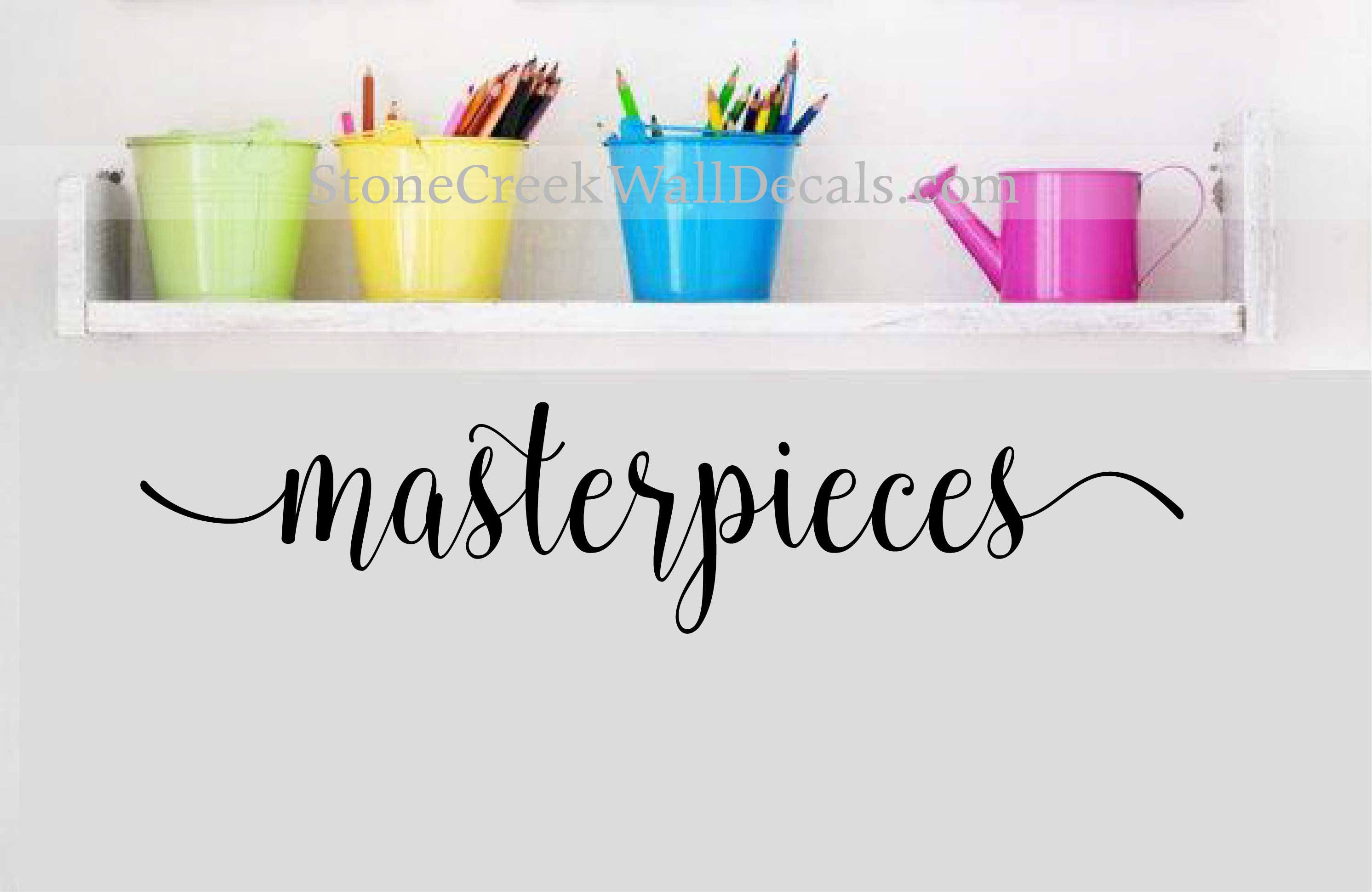 Masterpieces Wall Decal Childrens Wall Decals Playroom Decor Art Display Decal Wall Art Decal Playroom Wall Decals Children wall art  sc 1 st  stone creek wall decals & Masterpieces Wall Decal Childrens Wall Decals Playroom Decor Art ...