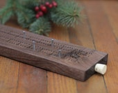 Cribbage Board - Black Walnut Wood - Rustic - Refined - Personalizable - Customizable Name - It can be Engraved