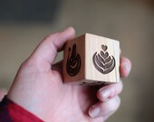 Custom Latte Art Dice | Large Dice With Designs of Choice and Your Logo Optional | 1-3/4 Inch Maple Wood Cube | Includes 1 Die Per Listing