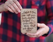 Barn Wood Magnet OR Mini Sign - Philippians 4:8 Whatever Is true noble right pure - Heavy Duty Magnet OR Small Wood Sign Laser Engraved