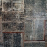 Ceiling Tiles Reclaimed Metal Roofing Barn Tin Drop Ceiling Tile Silver and Rusty Beautiful Rustic Weathered Patina FREE SHIPPING