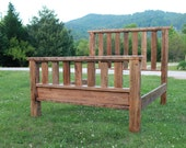 King Barn Wood Bed | Handmade Farmhouse Style Furniture | FREE SHIPPING in USA