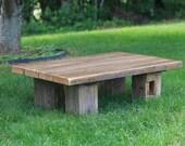 Barn Wood Coffee Table | Reclaimed Wood | Chunky Style Farmhouse Furniture | Barn Beams | FREE SHIPPING in the USA