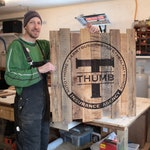 Custom Size Barn Wood Sign With Logo