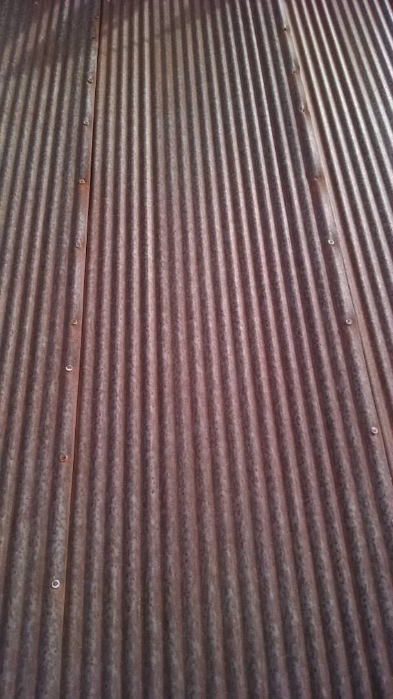 Reclaimed Corrugated Metal Roofing Barn Rusty Tin