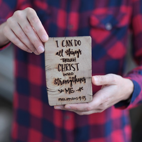 I can do all things through Christ,who strengtheneth me heavy duty magnet