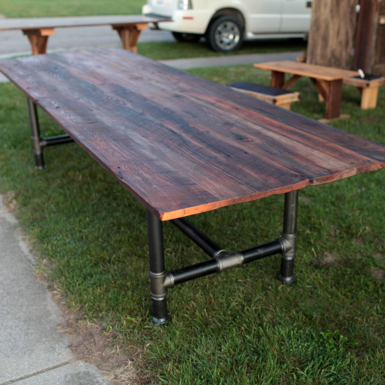 zoom 10 Foot Long Industrial Table Barn