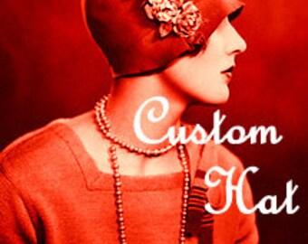 Flapper Femme Custom Hat
