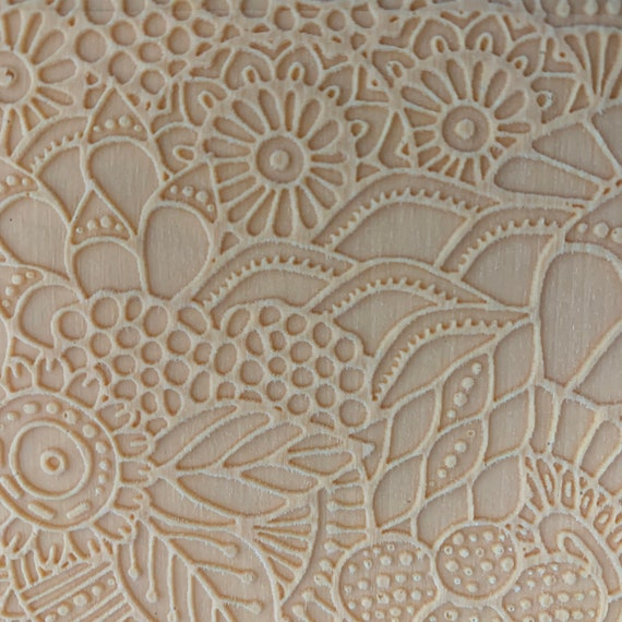 Texture Sheet Flower Screen Design for Polymer Clay and Mixed Media Stamping