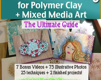 Polymer Clay Tutorial Ultimate Guide to Creative Stenciling for Polymer Clay and Mixed Media Art DIY