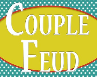 Couple Feud Printable Date Night Game
