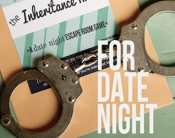 Escape Room Game - Date Night - The Inheritance Race - Printable Play at Home