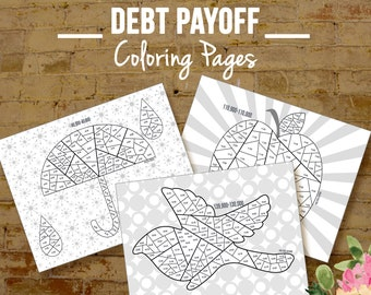 Financial Organizer Debt Payoff Coloring Pages