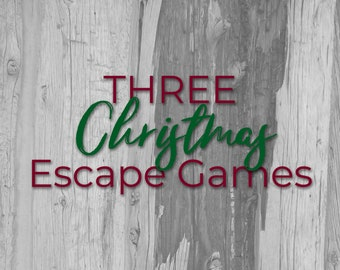 Christmas Escape Game Bundle - Three Games