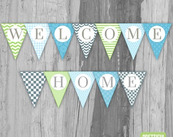 Welcome Home Banner Printable Instant Download - Jack