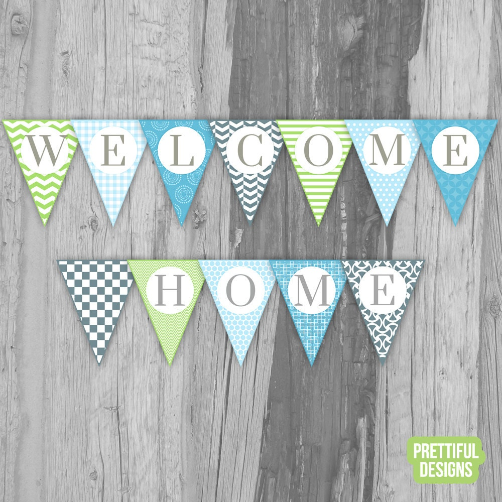 It's just an image of Selective Welcome Home Banner Printable