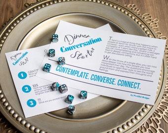 Dinner Conversation Starter Printable Connecting Game
