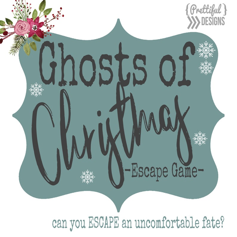 picture about Escape Room Printable referred to as Xmas Escape House Match Electronic Printable