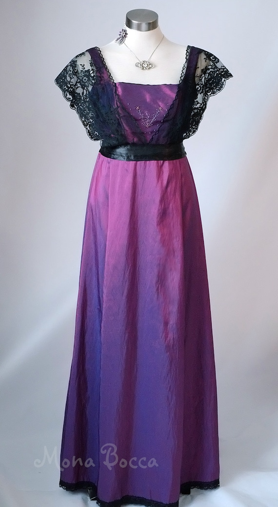 1140d05a2bc Edwardian Dress plus size handmade in England purple Titanic
