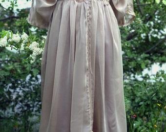 Edwardian brown taupe dress Downton Abbey inspired handmade in England dress Lady Mary Alternative wedding dress Steampunk dress 4US 6UK