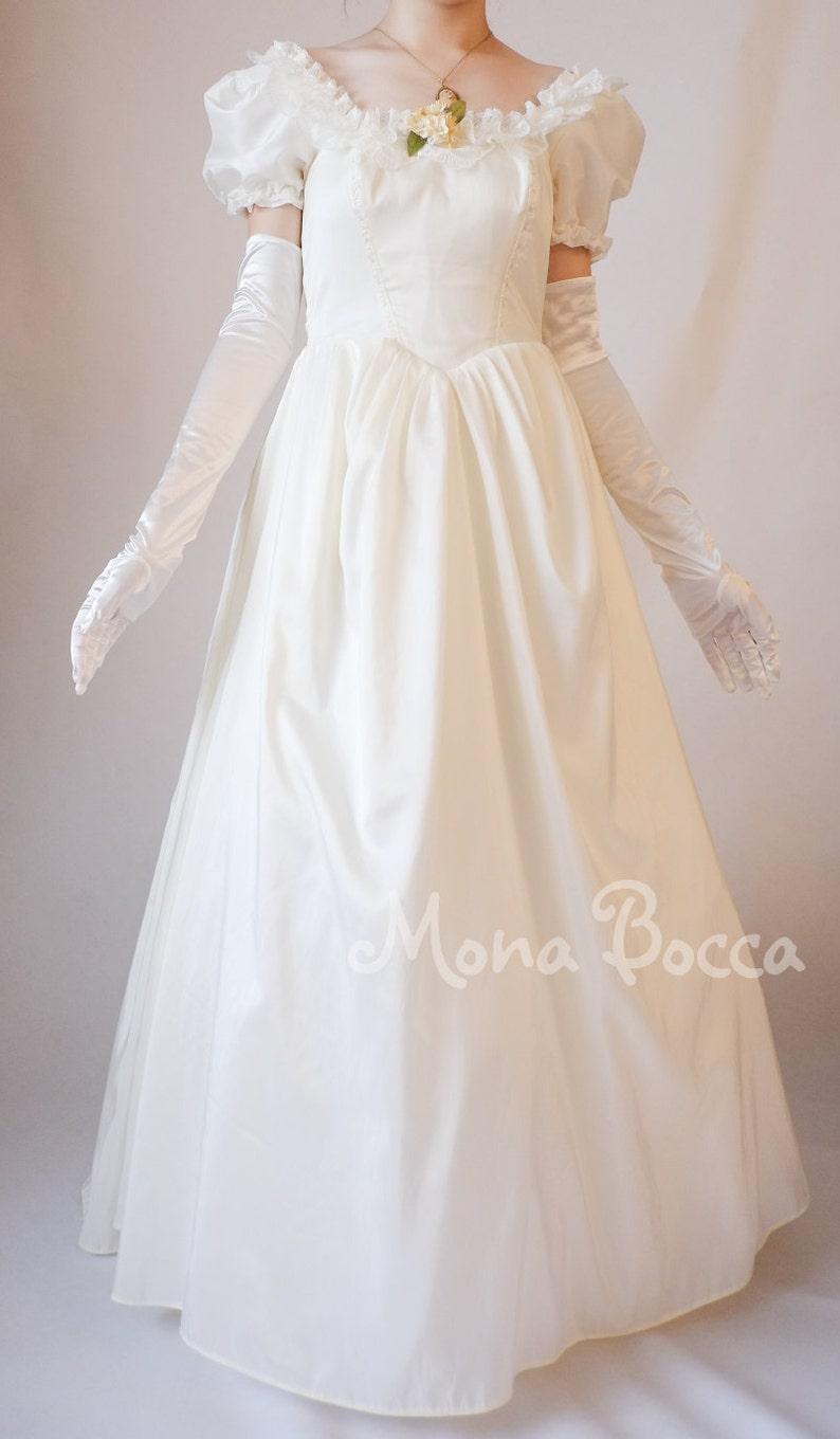 Victorian Dresses | Victorian Ballgowns | Victorian Clothing     Debutante dress Victorian soiree dress Phantom of the Opera Made to order in UK by Mona Bocca $254.52 AT vintagedancer.com