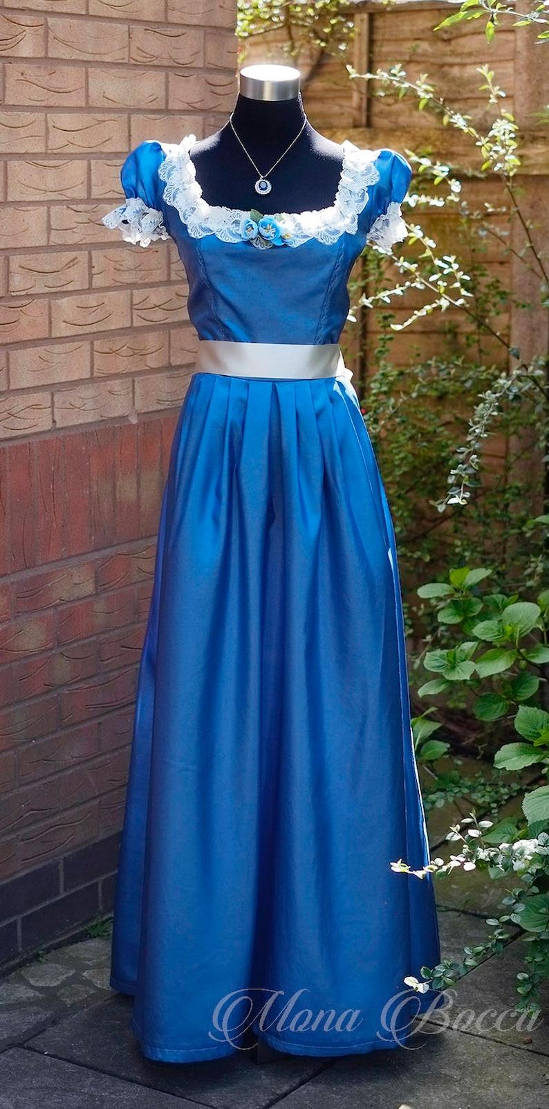 Victorian Dresses | Victorian Ballgowns | Victorian Clothing     Blue young Victoria soiree dress Disney Princess Snow White dress Fae dress Maiden dress Victorian dress Edwardian dress $254.52 AT vintagedancer.com